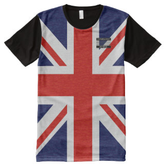 United Kingdom Flag Blue Red White T-Shirt