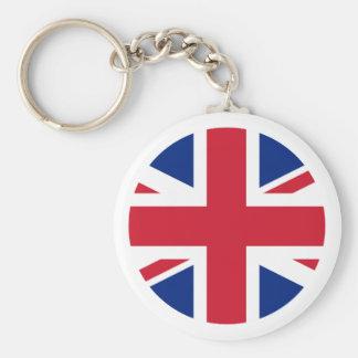 United Kingdom Flag Circle The MUSEUM Zazzle Keychains