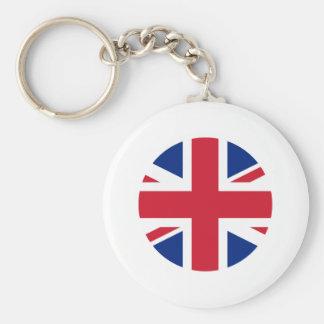 United Kingdom Flag Circle The MUSEUM Zazzle Key Chain