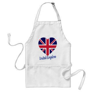 United Kingdom Flag Heart Standard Apron