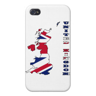 United Kingdom Flag in Map Covers For iPhone 4