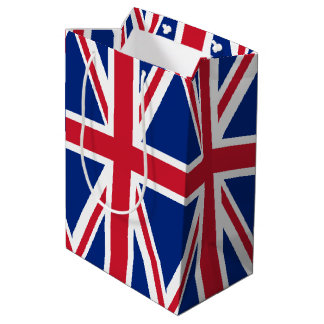 United Kingdom flag Medium Gift Bag
