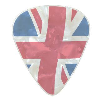 United kingdom flag pearl celluloid guitar pick