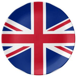 UNITED KINGDOM FLAG PORCELAIN PLATES
