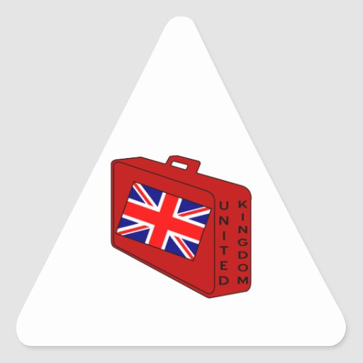 United Kingdom Flag Red Luggage Stickers
