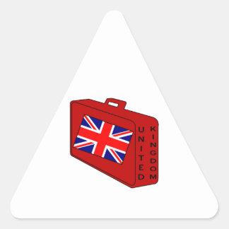 United Kingdom Flag Red Luggage Triangle Sticker