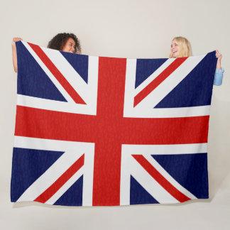 United Kingdom Flag Sparks Gold Blankets