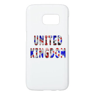 United Kingdom Flag Word Samsung Galaxy S7 Case