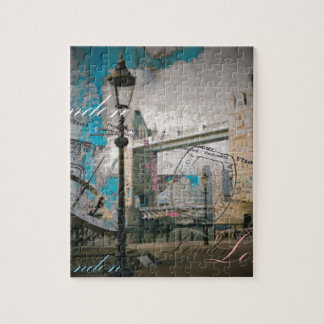 united kingdom Lamppost thames london tower bridge Jigsaw Puzzle