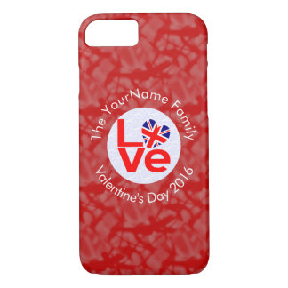 United Kingdom LOVE White on Red iPhone 7 Case
