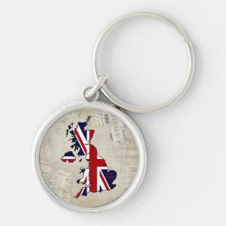 United Kingdom Mapped Posh Keychain