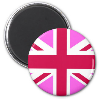 united kingdom pink flag gay proud great britain 6 cm round magnet