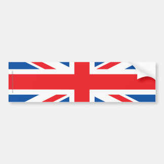 United Kingdom Plain Flag Bumper Sticker