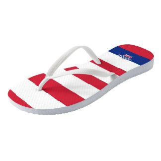 United Kingdom Samuels Striped Flip Flops
