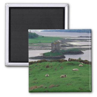 United Kingdom, Scotland, Isle of Skye, old Square Magnet