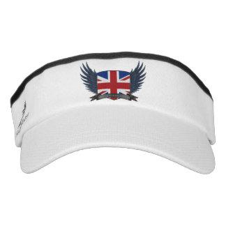 United Kingdom U.K. Flag Shield Sun Visor Hat