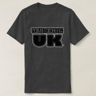 United Kingdom UK Black Phrased T-Shirts