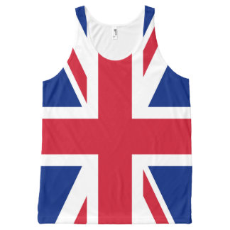 United Kingdom UK Flag All-Over Print Singlet