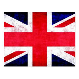 United Kingdom UK Flag Grunge Old Design Postcard