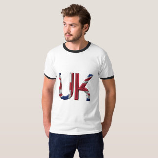 United Kingdom UK Initials Union Jack Flag Colors T-Shirt