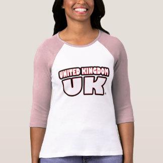 United Kingdom UK White Phrased T-Shirts