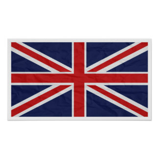 "United Kingdom Union Jack Flag 24""X13.57"" Poster"