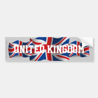 United Kingdom Waving Flag Bumper Sticker