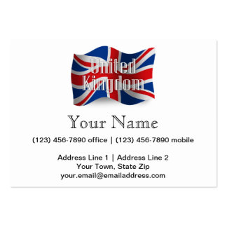 United Kingdom Waving Flag Pack Of Chubby Business Cards
