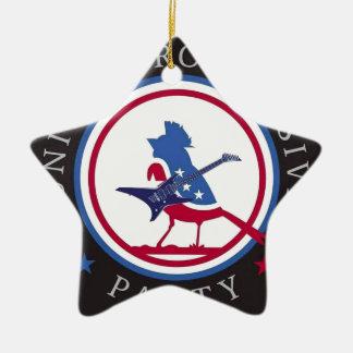 United Progressive Party Rock n Roll Logo Ceramic Star Decoration