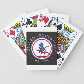 United Progressive Party Rock n Roll Logo Poker Deck