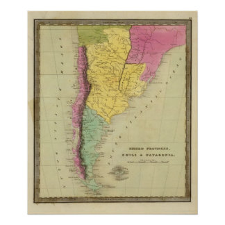 United Provinces, Chile and Patagonia Poster