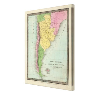 United Provinces, Chili and Patagonia Gallery Wrapped Canvas
