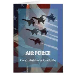 United States Air Force Graduation Jets Salute Card
