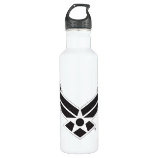 United States Air Force Logo - Black 710 Ml Water Bottle