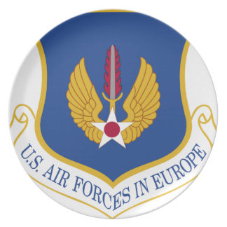 United States Air Forces in Europe Emblem Party Plate