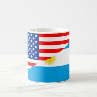 united states america argentina half flag usa coun coffee mug