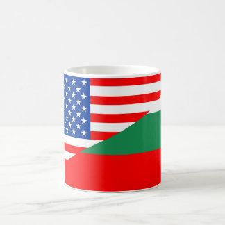 united states america bulgaria half flag usa count basic white mug