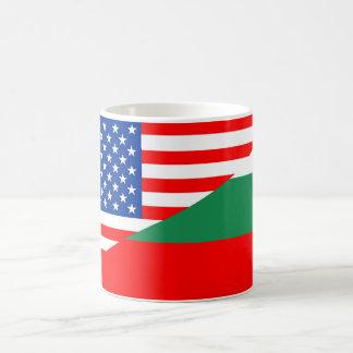 united states america bulgaria half flag usa count coffee mug