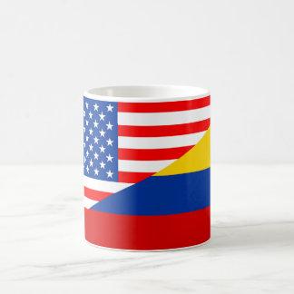 united states america colombia half flag usa count coffee mug