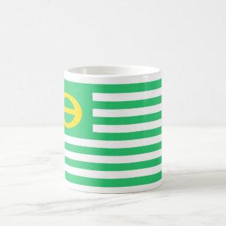 united states america ecology green flag basic white mug
