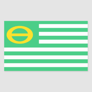united states america ecology green flag rectangular sticker