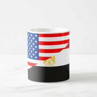united states america egypt half flag usa country basic white mug