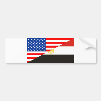 united states america egypt half flag usa country bumper sticker