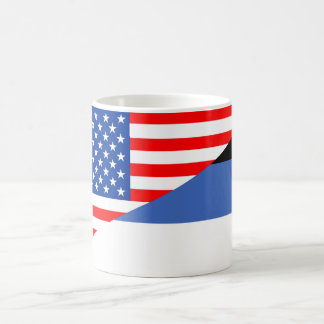 united states america estonia half flag usa countr coffee mug