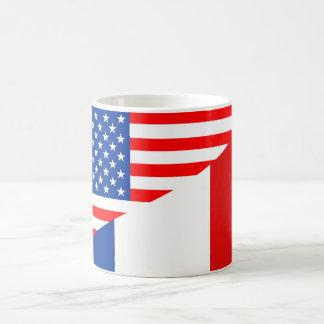 united states america france half flag usa country coffee mug