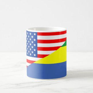 united states america gabon half flag usa country coffee mug