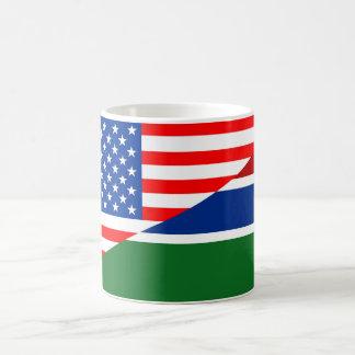 united states america gambia half flag usa country coffee mug