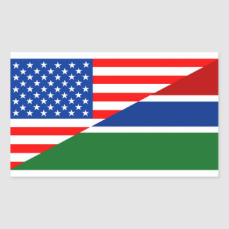 united states america gambia half flag usa country rectangular sticker