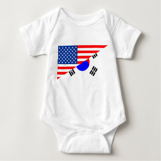 united states america korea half flag usa baby bodysuit