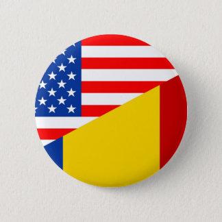 united states america romania half flag usa countr 6 cm round badge
